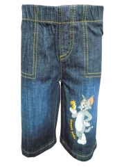Dorris & Morris Blue Denim Kids Toddler Cartoon Tom & Jerry Shorts blue denim 2-3YEARS