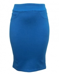 Blue Pencil Skirt Hawain Blue 6