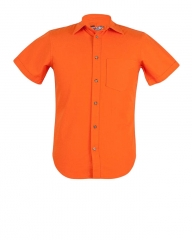 Trendy Orange Zecchino Men Slim Shirts Orange S