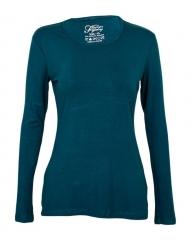 Teal Women's Long Sleeve Knit Tee Shirt Teal M