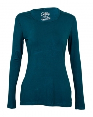 Teal Women's Long Sleeve Knit Tee Shirt Teal s