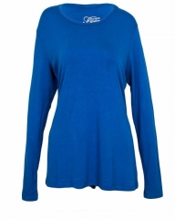 Royal Blue Long Sleeve Knit Tee Shirt Royal Blue s
