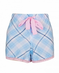 Blue Pink With Multi Stripe Print Sleep Wear Boxer Short Blue Pink S