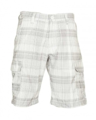 White Checked Men's Stylish Shorts White 30