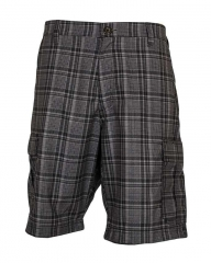 Black Tip Checked - Men's Stylish Shorts Black 34