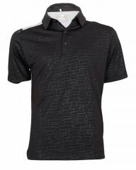 Black Carbon Eye-Catching Polo Shirt Black Carbon S