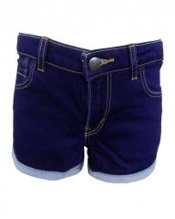 Blue Denim Shorty Shorts Blue 7