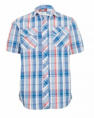Blue -Checked Shirt blue Plaid s
