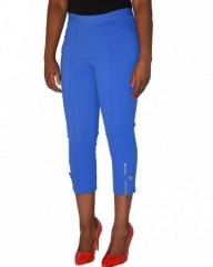 Blue Ladies Classic Capri Pants blue s