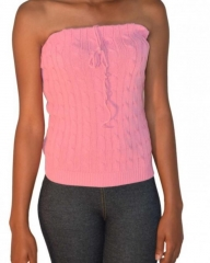 Pink Knitted Tube Top pink s