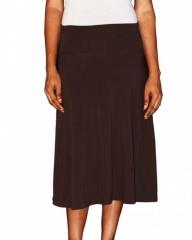 Ladies Black Button A-line Skirt Black s