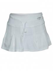 Cream White Pleated Ladies Skirt White s