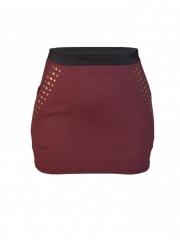 Brown Womens Studded Mini Skirt brown s