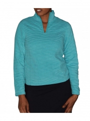 Green Stripped Womens Long Sleeved Jumper green free size