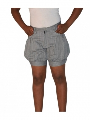Ladies Grey Rolled Up Shorts grey 30