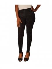 Black Shinny Ladies Leggings black s