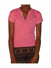 Pink Short Sleeved Top pink free size