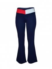 Ladies Navy Blue Wide Leg Sweatpants navy blue s