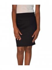 Casual Black Ladies Mini Skirt black s