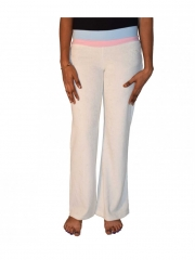Cream White Ladies Wide Leg Sweatpants cream white m