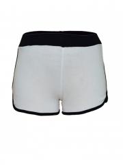 White Stripped Ladies Trainer Shorts white s