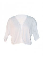 Ladies White Bolero white free size