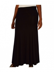 Black Ladies Maxi Skirt black s