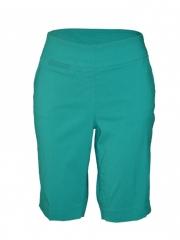 Green-Ladies woven Bermuda Short green 10