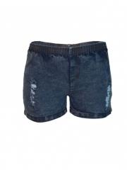 Blue Stone Distressed Women Elastic Denim Shorts blue stone s