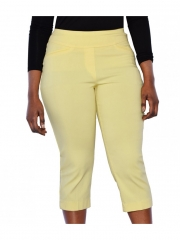 Ladies Woven Capri yellow 8