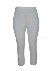 Cream Ladies Classic Capri Pants cream s