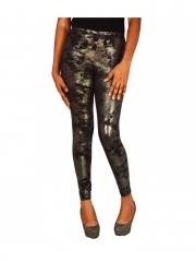 Popular High Shine Leggings black grey s