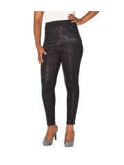 Black Sequin Cluster Leggings black s