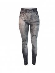 Realistic Denim Jeans Leggings black grey m