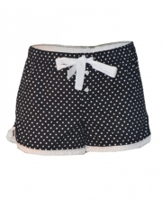 Black and White Dotted Boxer Shorts black and white s