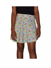 New Arrival Floral Mint Green Skater Skirt mint green s