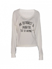 Off White Long Sleeved Top off white free size