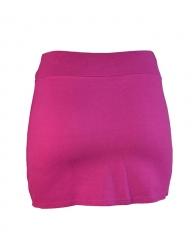 Women Straight Fit Mini Skirt pink s