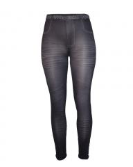 Realistic Denim Jeans Leggings black shiny s