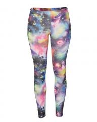 Multicolored Printed Ladies Leggings Multicolored s