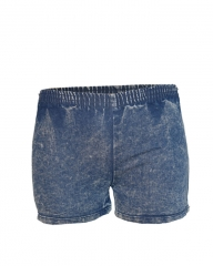 Blue Stone Women Elastic Waist Denim Shorts blue stone s