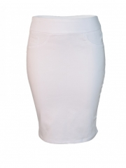 White Pencil Skirt white 14