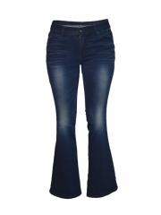 Dark Blue Wide Leg Ladies Pants dark blue s