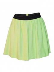Green Gathered Mini Skirt green s