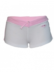 White And Pink Stripped Shorts white and pink s