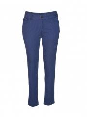 Navy Stripped Ladies Skinny Pants navy blue s