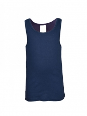 Kids Vest Top navy blue 4yrs