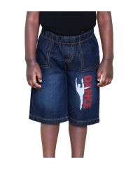 Black Denim Kids Toddler  Boys & Girls Cartoon Dance shorts black denim 2t