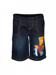 Navy Blue Denim Kids/Toddler Boys &Girls Cartoon Bart Simpson Shorts navy blue 2t