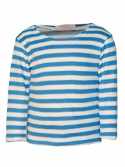 Blue and White Strips Long Sleeved T Shirt blue and white m